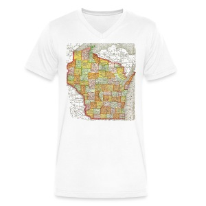 Wisconsin 1895 - Men's V-Neck T-Shirt by Canvas