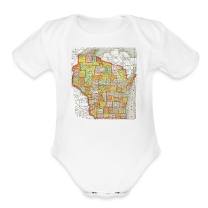Wisconsin 1895 - Short Sleeve Baby Bodysuit
