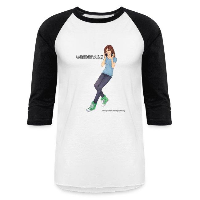 GamerMeg Official Icon Baseball T-Shirt (men's)