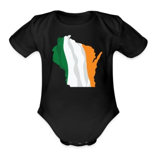 Wisconsin Irish - Short Sleeve Baby Bodysuit