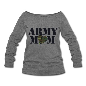 Army Mom - Women's Wideneck Sweatshirt