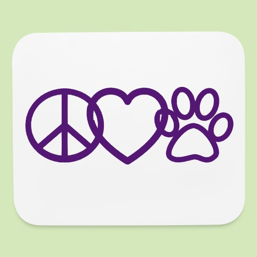 GIVE BACK- Peace Love Paws  - Mouse pad Horizontal