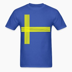 Swedish flag-lined