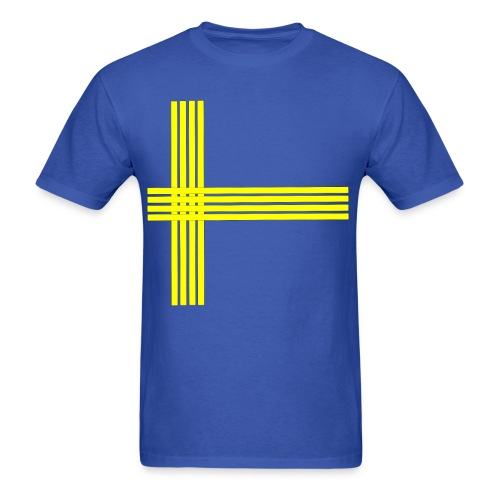 Swedish flag lined - Men's T-Shirt