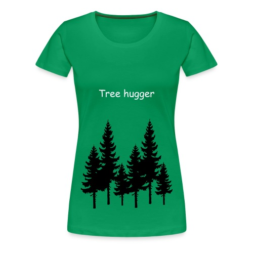 WOMAN TREE HUGGER  - Women's Premium T-Shirt