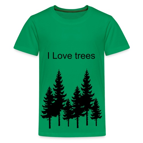 I Love Trees  - Kids' Premium T-Shirt