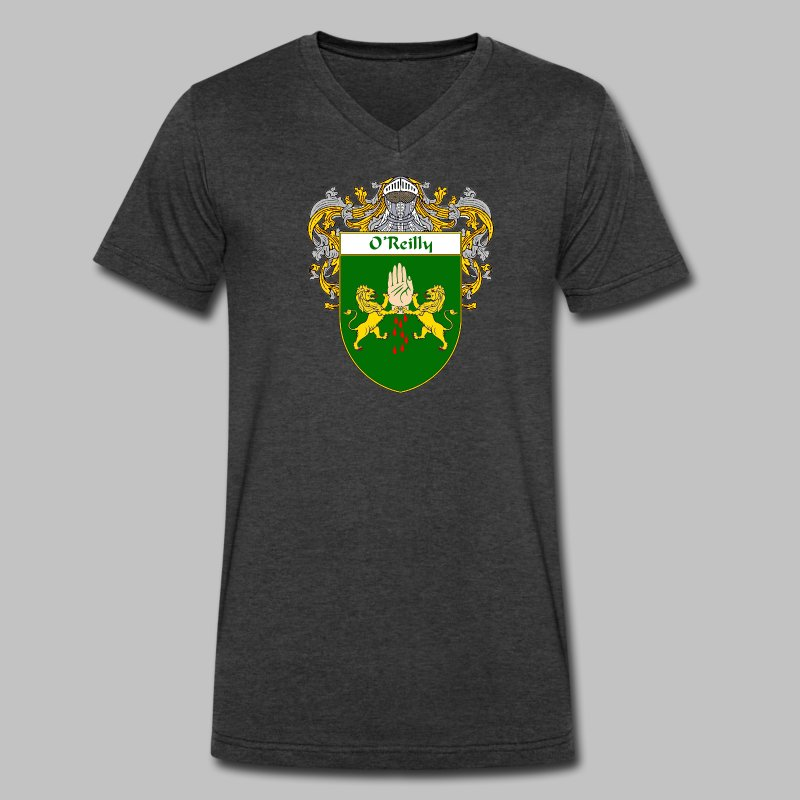 O'Reilly Coat of Arms - Men's V-Neck T-Shirt by Canvas
