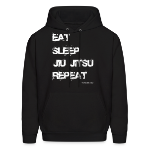 Men's Eat Sleep Jiu Jitsu Repeat Men's Hoodie  (Front Print) TD-00063a2  - Men's Hoodie