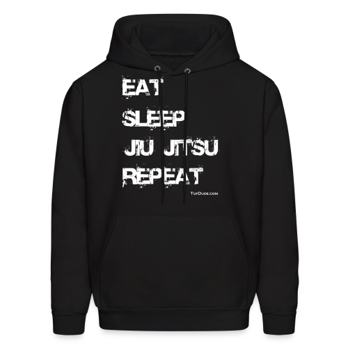 Men's Eat Sleep Jiu Jitsu Repeat Men's Hoodie  (Front Print) TD-00063a2  - Men's Hoodie