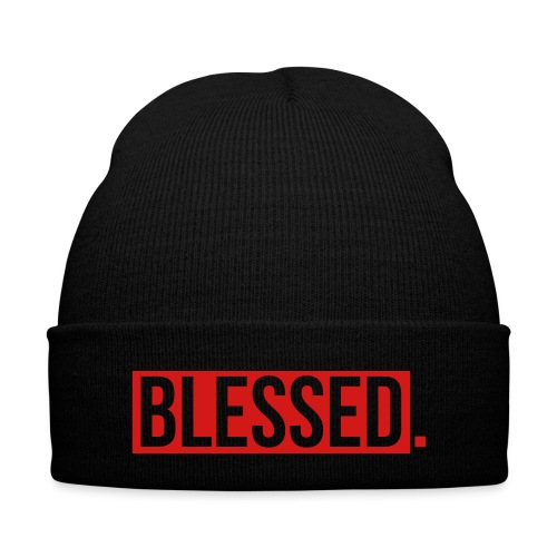 Maple Blessed Beanie - Knit Cap with Cuff Print