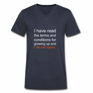 I Have Read the Terms Mens V-Neck - Men's V-Neck T-Shirt by Canvas