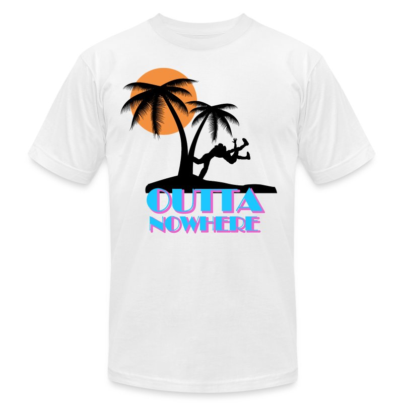 Outta Nowhere - Men's T-Shirt by American Apparel