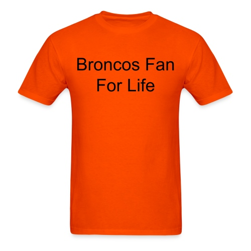 Bronco Fan Shirt in Orange - Men's T-Shirt
