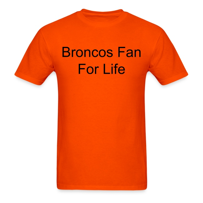 Bronco Fan Shirt in Orange