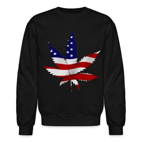 Weed Leaf Flag Sweatshirt - Crewneck Sweatshirt