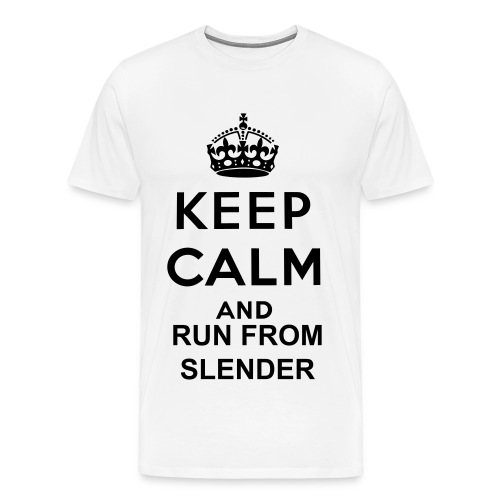 keep calm and run from slender - Men's Premium T-Shirt