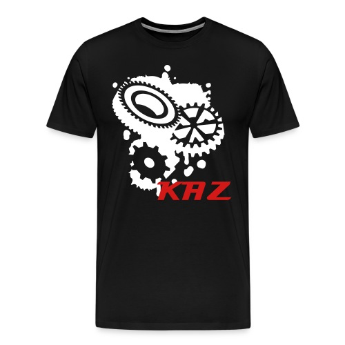 Large Cog Logo: Kaz - Men's Premium T-Shirt