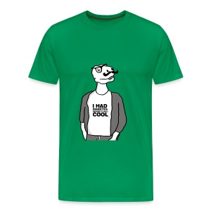Mens Hipster Dino has Diabetes T - Men's Premium T-Shirt