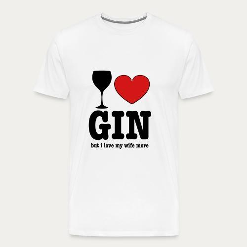 I ♥ Gin - Men's Premium T-Shirt