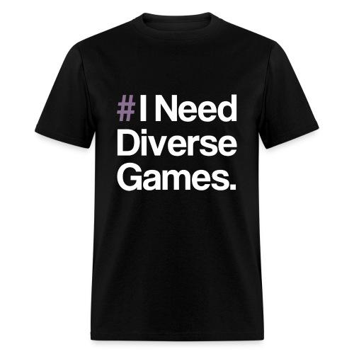 #INDG Plain Black T  - Men's T-Shirt