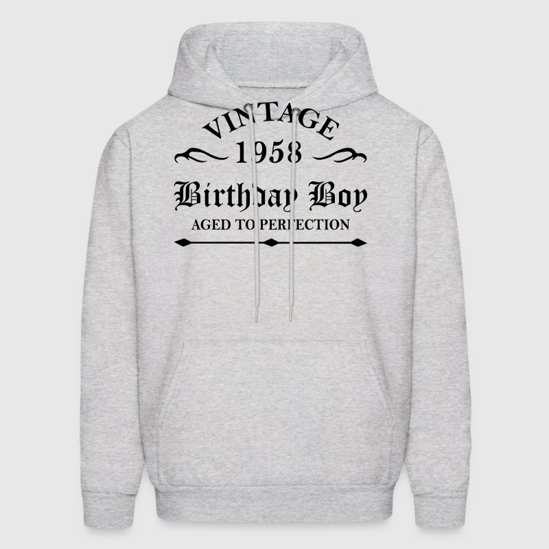 Vintage 1958 Birthday Boy Aged To Perfection Hoodies - Men's Hoodie