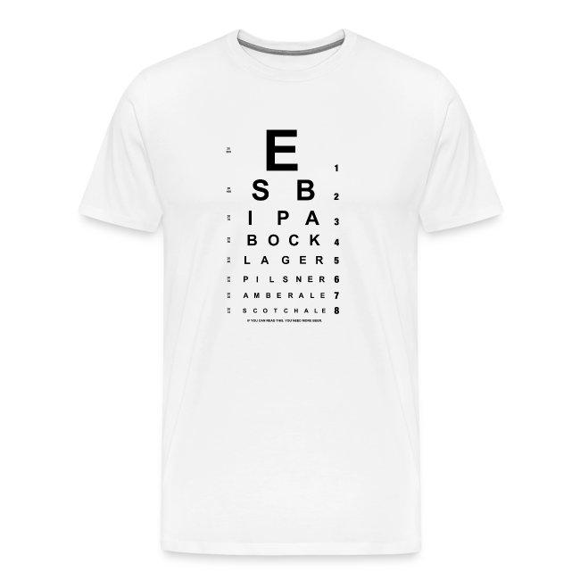 Naked House Design Beer Eye Chart T Shirt Mens Premium T Shirt