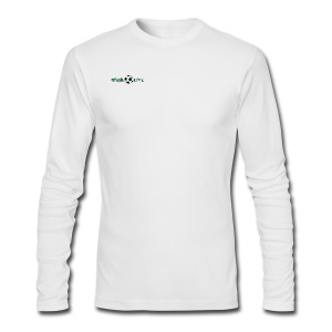 Mens Long Sleeve Green Logo - Men's Long Sleeve T-Shirt by Next Level