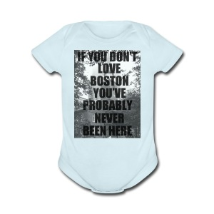 if you don't love - Short Sleeve Baby Bodysuit