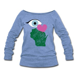 Eye Heart Wisconsin - Women's Wideneck Sweatshirt