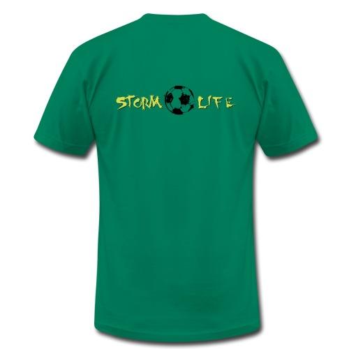 Mens Light Green Logo - Men's Fine Jersey T-Shirt