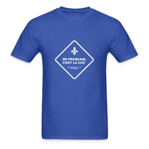 En français, c'est la loi! - T-shirt pour hommes