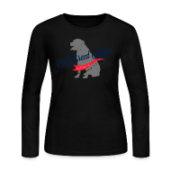 Long Sleeve Shirts ~ Women's Long Sleeve Jersey T-Shirt ~ A Breed Apart Clothing Co. Logo women's long sleeve T shirt