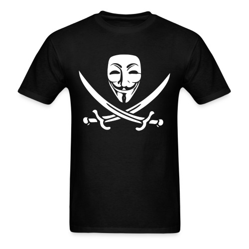 Anon Mask and Swords - Men's T-Shirt