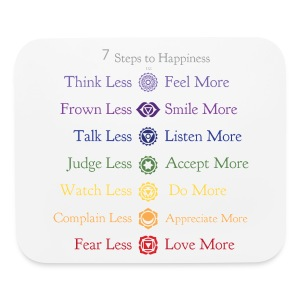7 Steps to Happiness - Mouse Pad - Mouse pad Horizontal