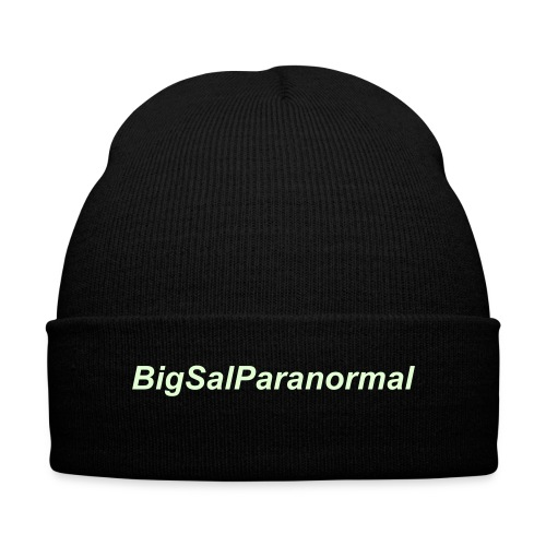 Glow in the Dark BigSalParanormal hat - Knit Cap with Cuff Print