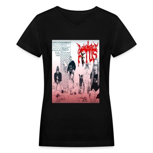 Dismembered Fetus Obstetrician Women's V-Neck  - Women's V-Neck T-Shirt