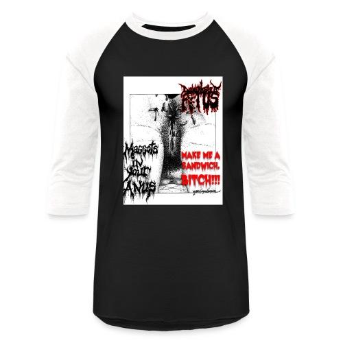 Dismembered Fetus Maggots Baseball 3/4 Sleeve - Baseball T-Shirt