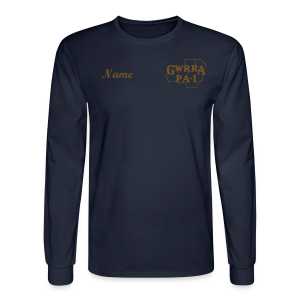 Men & Women's Sweatshirt- Back & chest logo, name (Gold Glitz) - Men's Long Sleeve T-Shirt