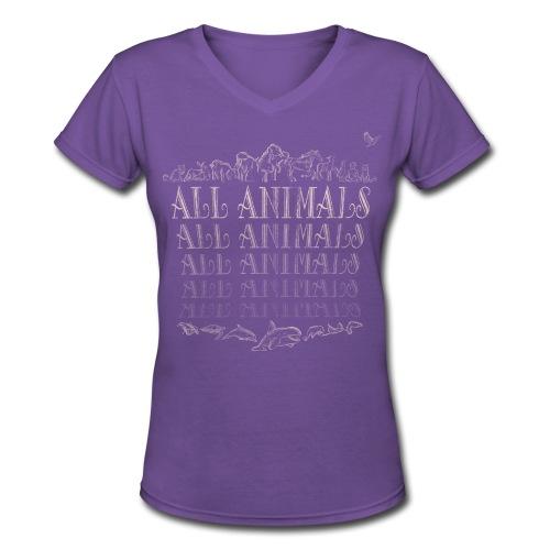 All Animals - Women's V-Neck T-Shirt