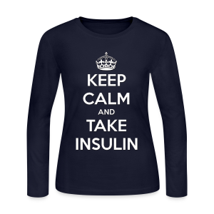 Keep Calm and Take Insulin - White - Women's Long Sleeve Jersey T-Shirt