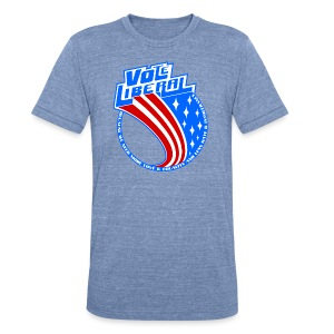 Vote Liberal America - Unisex Tri-Blend T-Shirt by American Apparel