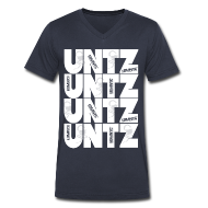 T-Shirts ~ Men's V-Neck T-Shirt by Canvas ~ Untz Untz Untz