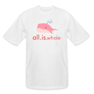 All is whale (Pink, Men) - Men's Tall T-Shirt