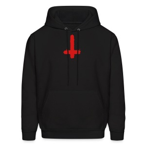 Inverted cross on black hoodie - Men's Hoodie
