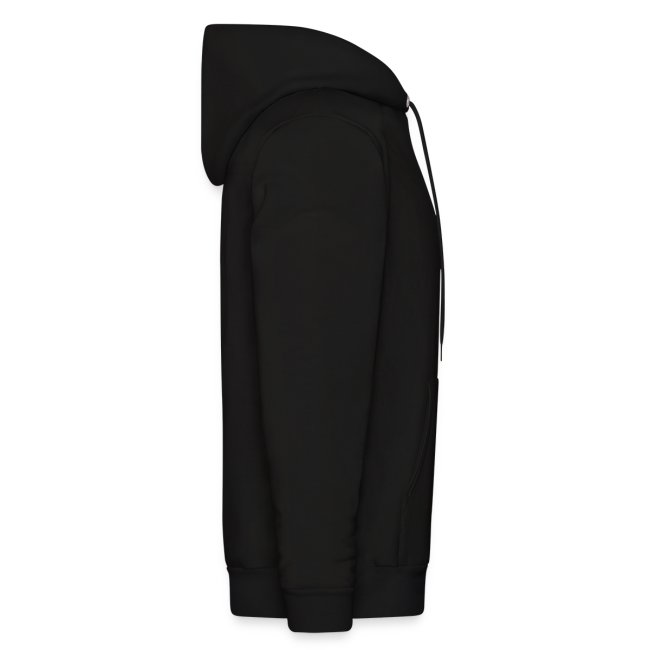 Inverted cross on black hoodie