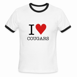 T-Shirt I ♥ COUGARS - Men's Ringer T-Shirt