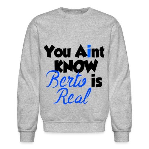Men's Grey You Aint Know Crewneck - Crewneck Sweatshirt