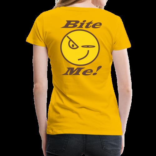 Ladies Premium T -Back_Bite Me - Women's Premium T-Shirt
