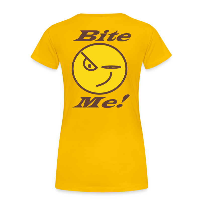 Ladies Premium T -Back_Bite Me - Women's Premium T-Shirt