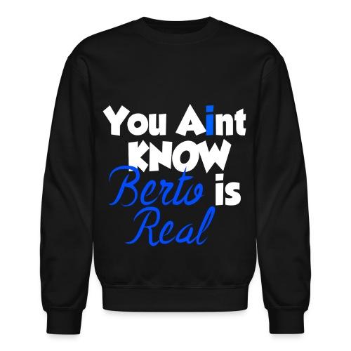 Men's Black You Aint Know Crewneck - Crewneck Sweatshirt